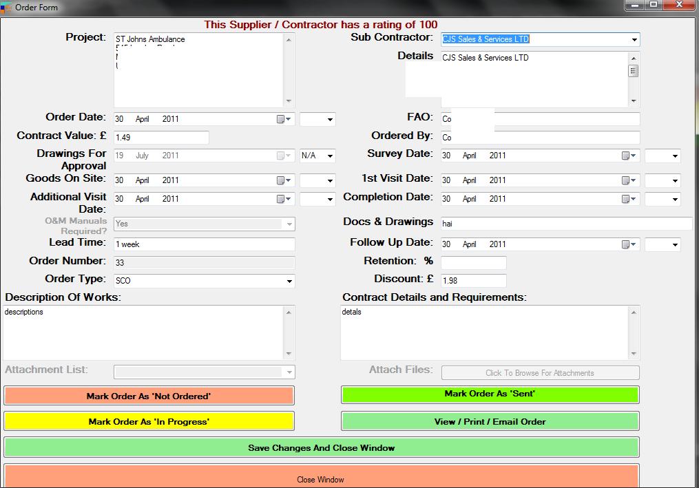 CJS Sales & Services Software